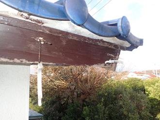 令和元年房総半島台風で破損した雨樋