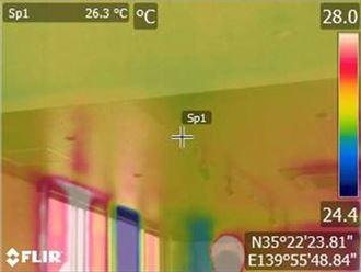 3F北西天井の赤外線カメラ