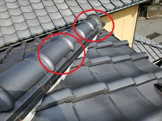 令和元年房総半島台風の影響で棟の銅線が切れてしまいました