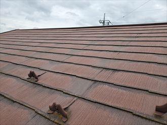 防水性が低下しているスレート屋根
