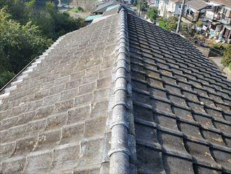 千葉市若葉区にて漆喰が剥がれた瓦屋根調査