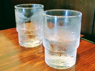 グラスの結露
