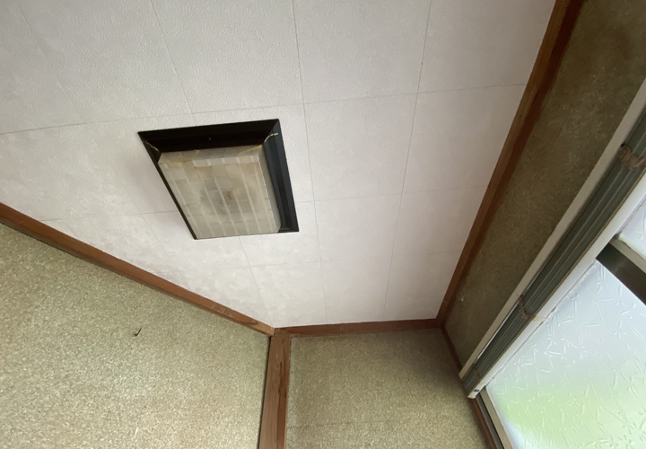 室内天井の張替えが完了