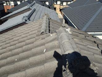 雨漏りが発生した瓦屋根