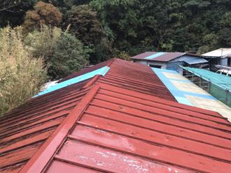 雨漏りが発生した瓦棒屋根