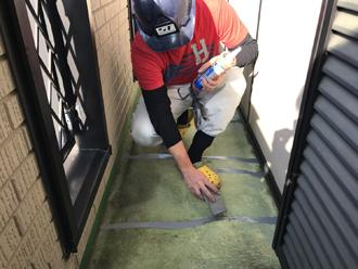 防水層のクラック補修