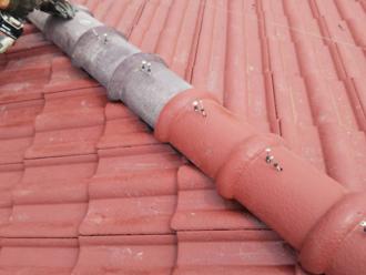 不足分の棟瓦は同じ形状のものを使用