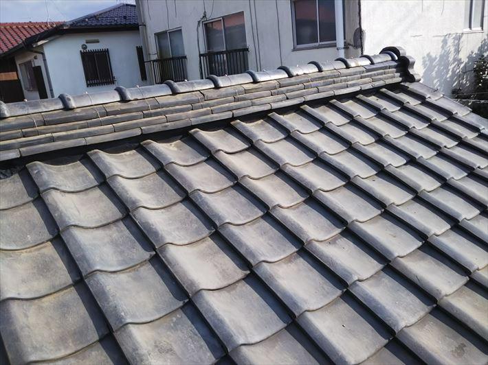 令和元年房総半島台風の影響で被害を受けた瓦屋根の棟取り直し工事が完了