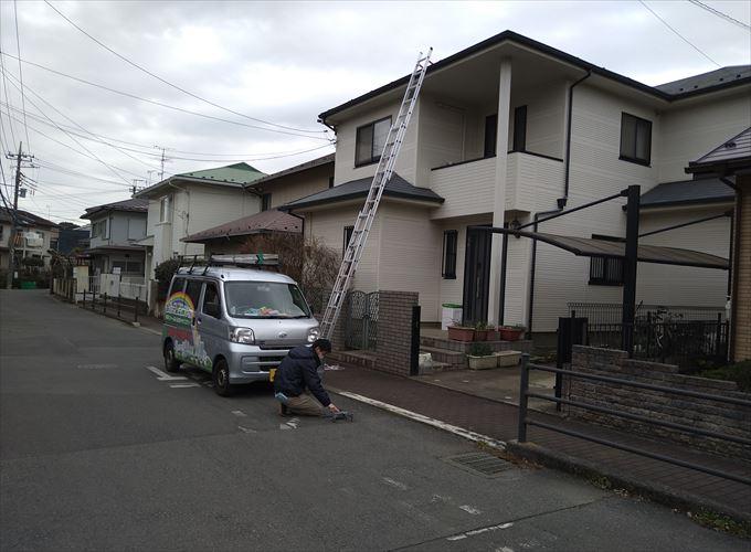 屋根調査を行います