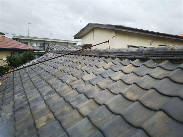 令和元年房総半島台風の影響で被害を受けた瓦屋根