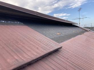 台風被害を受けたスレート屋根