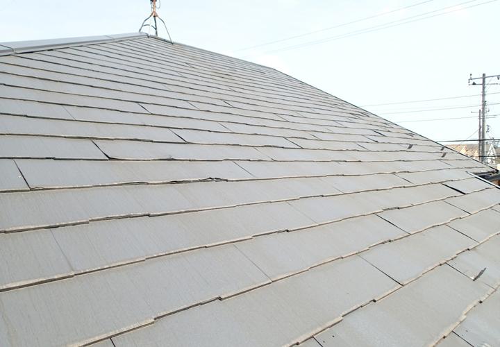 築16年で10年前に塗装したパミール屋根の調査