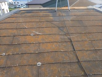 棟板金が強風の影響に剝がれてしまいました