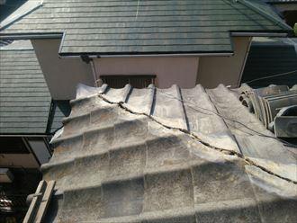 棟取り直し工事にて既存の棟を解体後、清掃致します