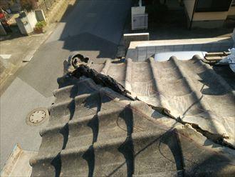 棟取り直し工事でなんばん漆喰を使用致します