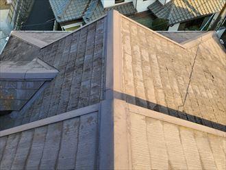 塗膜が剥がれているスレート屋根調査