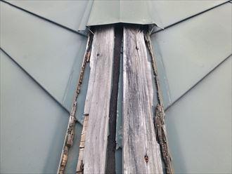 防水紙が露出していると劣化が早まり雨漏りに繋がります