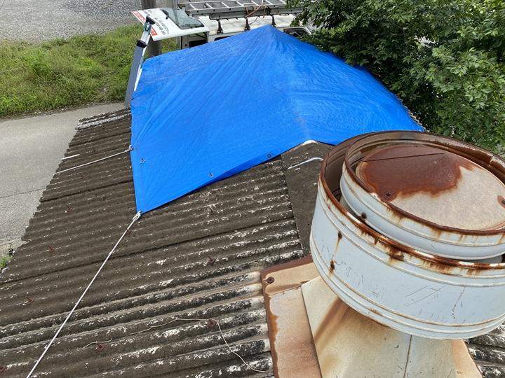 小波スレート屋根の調査