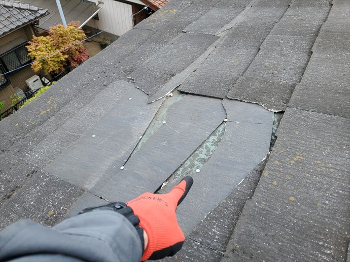 防水紙の露出や釘の露出は雨漏りの原因になります