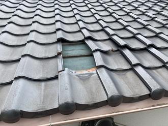 瓦屋根の捲れ
