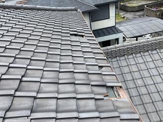 瓦屋根の被害