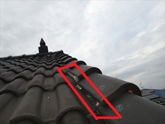 ケラバ部分の漆喰の落下
