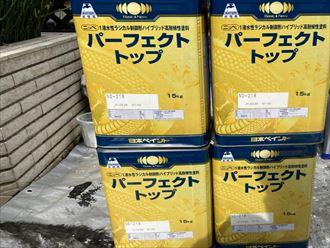 屋根塗装工事にて使用したファインパーフェクトベスト