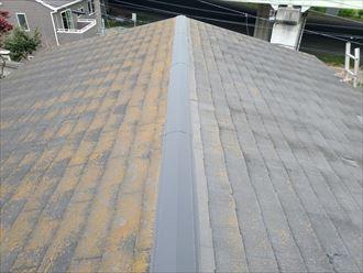 千葉市中央区にてスレート屋根の調査の様子