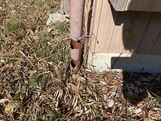 竪樋の破損