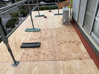 下屋 構造用合板張付