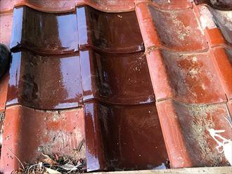 平瓦欠損部の復旧