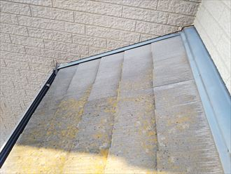 防水性の低下によりスレート屋根にこえk