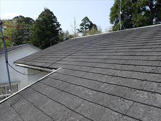 築30年が経過したスレート屋根の調査