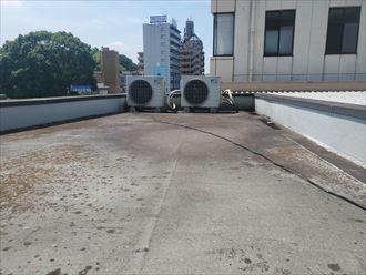 千葉市中央区にて陸屋根防水調査