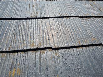 苔が発生しているスレート屋根
