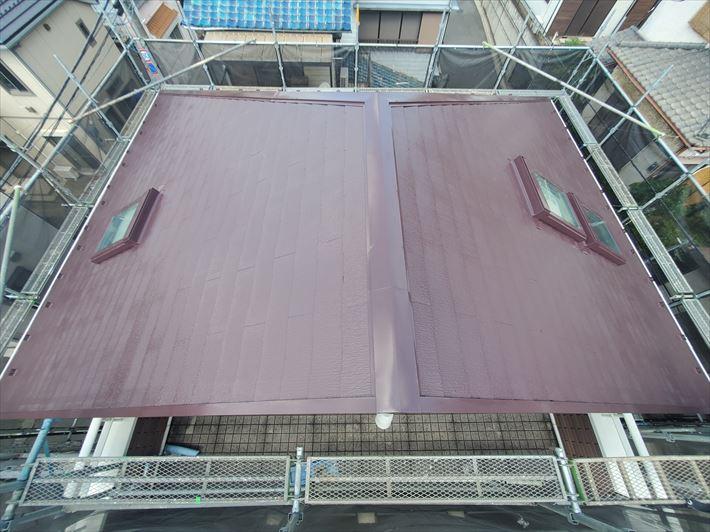 ファインパーフェクトベストを使用した屋根塗装工事