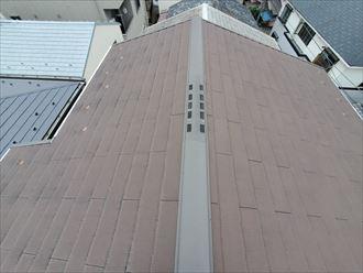 築10年が経過したスレート屋根の調査