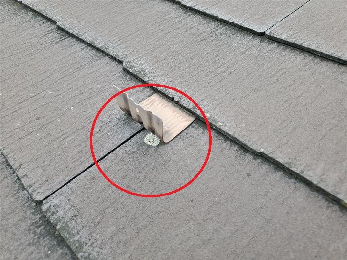 防水性が低下したスレート屋根に苔が発生