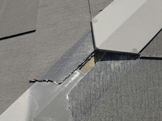 差し棟が剥がれた部分は隙間が出来ており雨漏りを引き起こす可能性がありました
