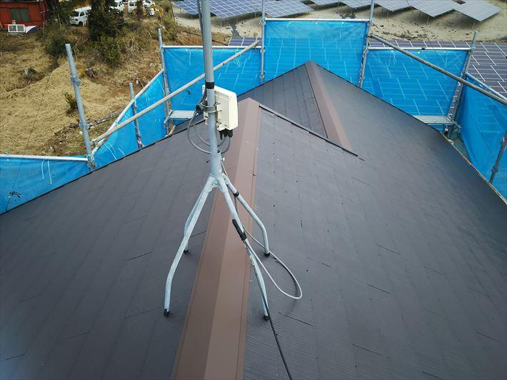 シリコンベストⅡを使用した屋根塗装工事が完了