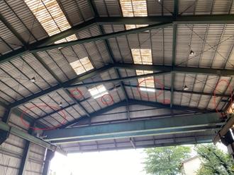 屋根の穴あき