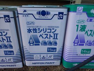 屋根塗装工事にてシリコンベストⅡを使用