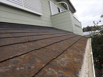防水性が低下したスレート屋根