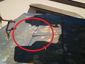 スレートの反りは塗装メンテナンスでは平らに戻りません