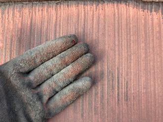 チョーキングの発生したスレート屋根の塗膜