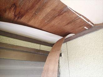 富津市の雨漏り工事|軒天の交換工事も行いました