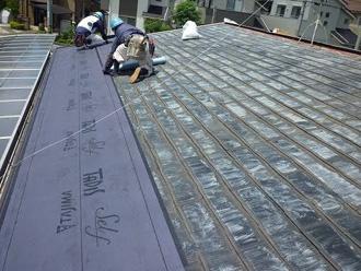 切妻屋根の屋根葺き替え工事