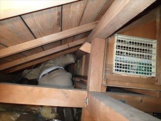 小屋裏の漏水調査 木更津市