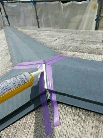 君津市 屋根の塗装工事 下処理004_R