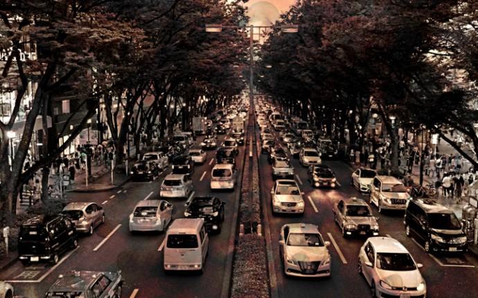 大気汚染の元凶、車と渋滞